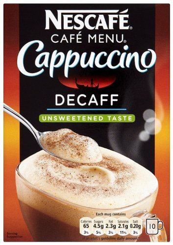 Nescafe Cappuccino Decaffeinated Unsweetened [Pack of 6]