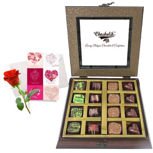 Valentine Chocholik's Belgium Chocolates - Dark And Sweet Collection Of Beautiful Chocolates With Love Card And...