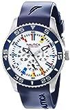 "Nautica Men's N12627G NST 07 ""Flags"" Stainless Steel Watch"
