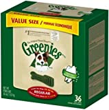 GREENIES Original Canine Dental Chews - Regular Size - Value Tub (36 oz.) - 36 Count