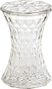 Kartell Stone Stool Crystal Side Lamp Table       Customer reviews and more information