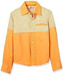 UFO Boys' Shirt (AW16-WF-BKT-239_Orange_6 - 7 years)