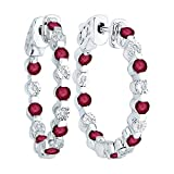 Alternating 1/20 ct. Diamond with 1 5/8 ct. Ruby