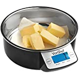 VonShef Digital Electronic Kitchen Bowl Scales with Removeable Stainless Steel Bowl 5kg/11lb