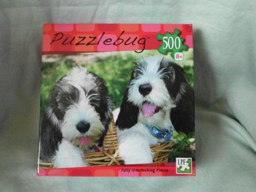 """Puzzle Bug """" Puppy Basket """" Jigsaw Puzzle - 500 pcs - 1"""