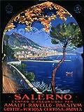 TRAVEL TOURISM SALERNO MEDITERRANEAN ITALY VINTAGE ADVERTISING POSTER ART 2491PY