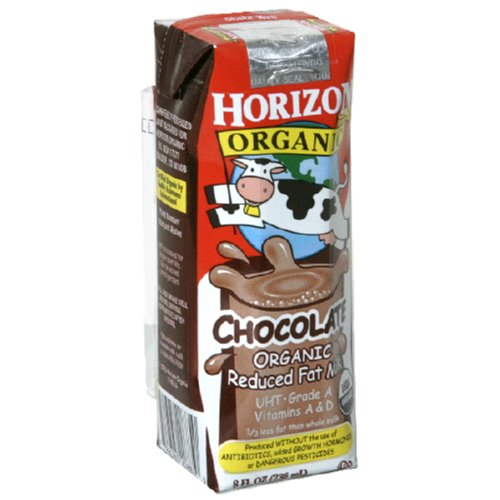 Horizon Organic Reduced Fat Milk, Chocolate, 8-Ounce Aseptic Cartons (Pack of 18)