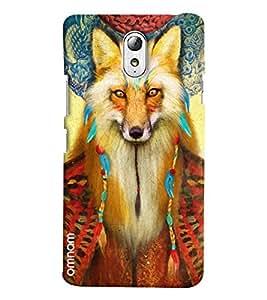 Omnam Wolf Face Printed Designer Back Cover Case For Lenovo Vibe P1 M