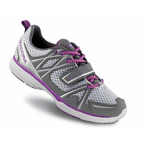 Diadora Women's Herz Indoor Cycling/ Mountain Biking Shoe - 170036 (Steel Gray/Dewberry - 39)
