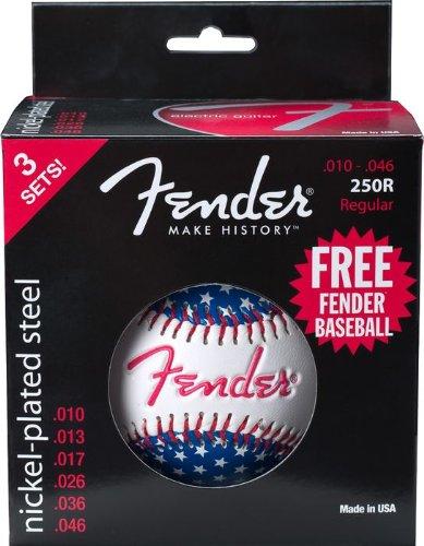 fender-250r-nickel-plated-steel-electric-guitar-strings-w-free-fender-baseball-regular