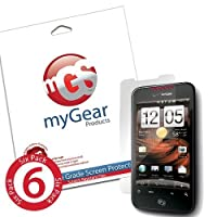myGear Products LifeGuard Screen Protector Film for HTC Droid Incredible 2 & S - (6 Pack) Clear