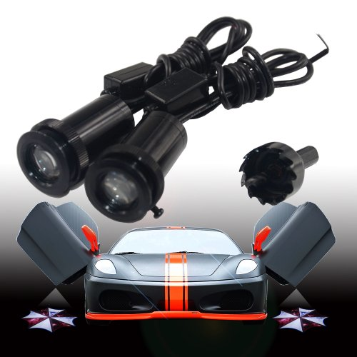 2X High Definition Special For The Resident Evil Umbrella Corporation Logo Car Door Led Courtesy Welcome Logo Projection Light Led Ghost Shadow Lights Lamp Projector Lighting----Custom Made Lights