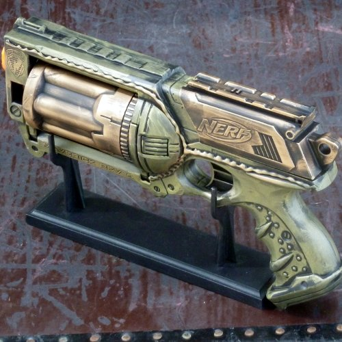 Steampunk gun Victorian Nerf N-Strike Maverick Zombie Maverick StyleFall Out Soft Dart toy NG-5