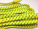 CablesFrLess (TM) 10ft Braided Tangle Free Flat High Quality Super Durable Micro B USB Charging / Data Sync Cable fits Android Phones and Tablets Samsung Galaxy S4 S3 Reverb Note Google Nexus HTC One Kindle Fire HD Touch Nokia Lumia Acer LG G2 Optimus Pantech Blackberry Motorola Moto X Sony Ericsson ZTE etc (Yellow)