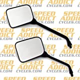 Emgo 20-46210 Matte Black Finish 10mm Universal Replacement Mirror for GP Sport - Pair