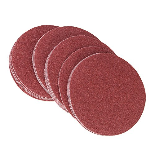 240Grit 6-Inch Velcro Sanding Discs Hook Loop Sandpaper DIY Tool No Hole Pack Of 20
