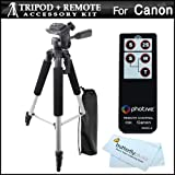 Photive RC-4 Wireless Remote Control Kit for Digital SLR Cameras, 57 inch Full Tripod With Deluxe Soft Carrying Case ~ ButterflyPhoto