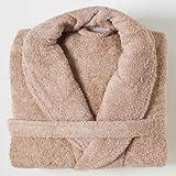 Linens Limited Bademantel - Ägyptische Baumwolle - Beige - Größe L