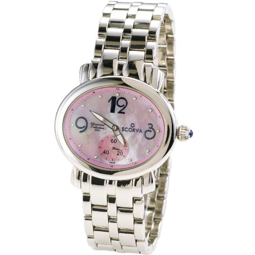 Scorva Womens Solid Stainless Steel Womens Watch