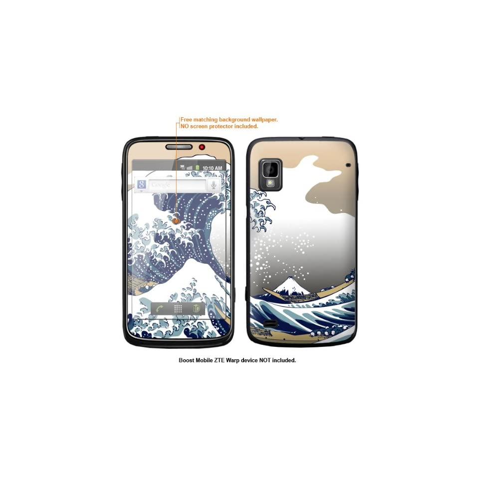 Protective Decal Skin Sticker for ZTE Warp  Boost Mobile version  case cover ZTEwarp 592