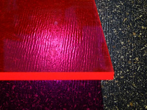 Plaque acrylique fluorescent rouge 1000 x 500 x 3 mm Plexiglas®