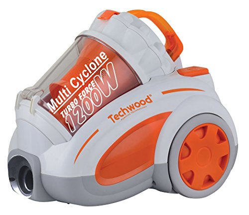 Techwood ECO-248 Aspirateur sans Sac Orange/Blanc 48 x 32,5 x 40,5 cm 1200 W