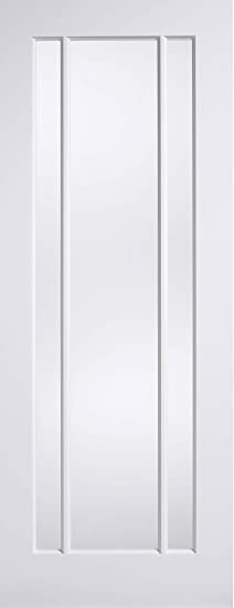 Worcester / Lincoln White Pre-Primed Clear Glazed 3 Panel Internal Doors - 1981mm x 838mm x 35mm (78 x 33 x 1.38)