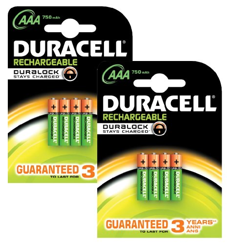 piles rechargeables duracell pile rechargeable aaa x 8. Black Bedroom Furniture Sets. Home Design Ideas