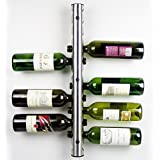 Home Kitchen Bar Stainless Steel Wine Rack Wine Wall Mounted Holder 12 Bottles