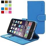 Snugg - Funda Para iPhone 6 - Funda De Cuero Con Soporte Plegable Y Una Garantía De Por Vida (Azul) Para Apple iPhone 6