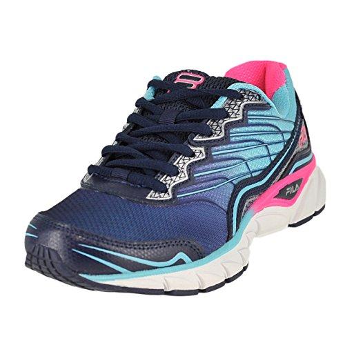 Fila Women's Memory Countdown 3 Running Shoe, Fila Navy/Bluefish/Knockout Pink, 8.5 M US