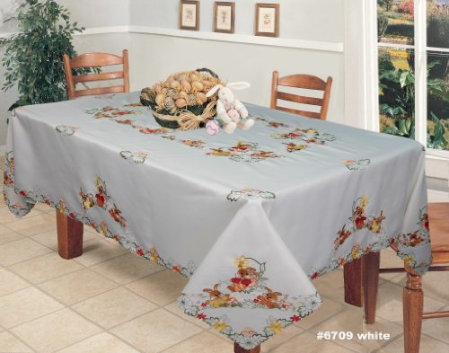 Embroidered Easter Tablecloth 70x120