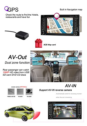 YINUO-7-Zoll-2-Din-Touchscreen-In-Dash-Autoradio-Moniceiver-DVD-Player-GPS-Navigation-7-Farbe-Tastenbeleuchtung-fr-VW-TOUAREG-2004-2011VW-Transporter-to-2009-Backup-Kamera-