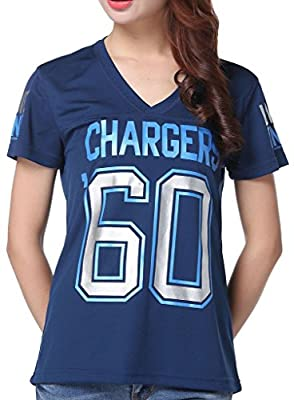 Women's NFL '60 San Diego Chargers Pink Victoria's Secret Tee T-shirt