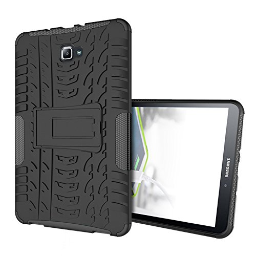 Samsung Galaxy Tab A 10.1 Case - Anna Shop Hybrid High Impact Premium Rugged Cover with Kickstand Drop Protection and Shock Absorbent Case for Samsung Galaxy Tab A (SM-T580/SM-T585) Case 2016 Release (Otterbox Samsung 5 Mini compare prices)