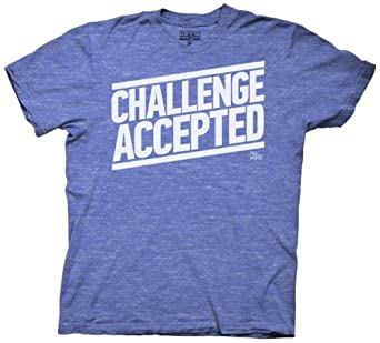How I Met Your Mother Challenge Accepted T-Shirt (Size:Small, Color:Blue)