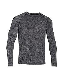 Men\'s Under Armour Tech Patterned Long Sleeve T-Shirt, Black (001), Medium
