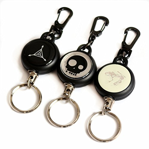 Daixers Retractable Key Chain & Ring,Split Ring Set of 3 (Split Compressor compare prices)