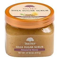 Tree Hut Shea Sugar Body Scrub Almond & Honey 18-Ounce Jars (Pack of 3)