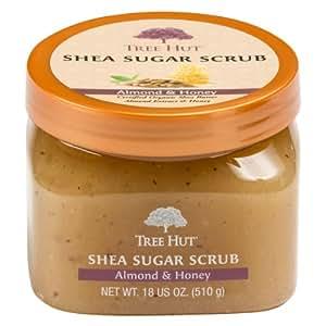 Tree Hut Shea Sugar Scrub, Almond & Honey, 18 Ounce (Pack of 3)