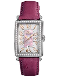 Gevril Women's 7248RL.14E Pink Mother-of-Pearl Genuine Ostrich Strap Watch