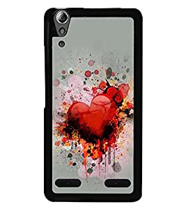 PRINTVISA Abstract Heart Love Case Cover for Lenovo A6000 Plus