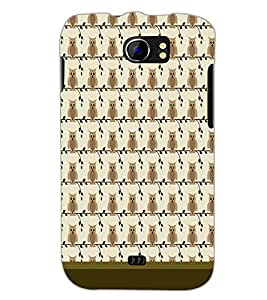 PrintDhaba Owl Pattern D-1649 Back Case Cover for MICROMAX A110 CANVAS 2 (Multi-Coloured)