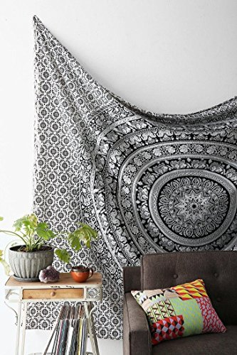 Handmade Cotton Mandala Bedspread Throw Bohemian Backdrop Medallion Yoga Meditation Picnic Garden Beach Throw Boho Gypsy Dorm Decor Living Room Hippie Hippy Wall Hanging Tapestry (Room And Board Bed compare prices)
