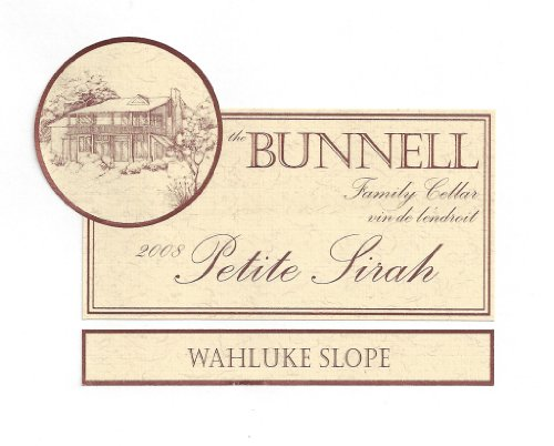 2008 The Bunnell Family Cellar Northridge Vineyard Wahluke Slope Petite Sirah 750 Ml