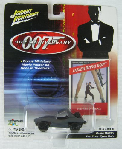 Johnny Lightning Die Cast Car - 007 James Bond, For Your Eyes Only - Dune Buggy