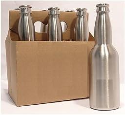 12oz Stainless Steel Beer Bottles - 6-Pack