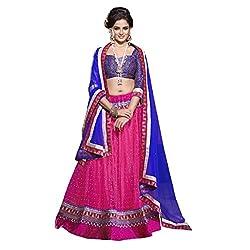 Aagaman Fashions Art Silk Lehenga Choli (TSN73010_Magenta)