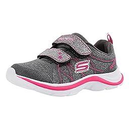 Skechers Kids Swift Kicks Sneaker (Toddler), Charcoal/Pink, 9 M US Toddler