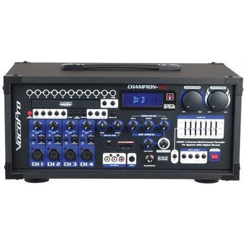 VOCOPRO CHAMPION-REC BASIC HEAD 200W 4-Channel Multi-format portable PA with digital recorder